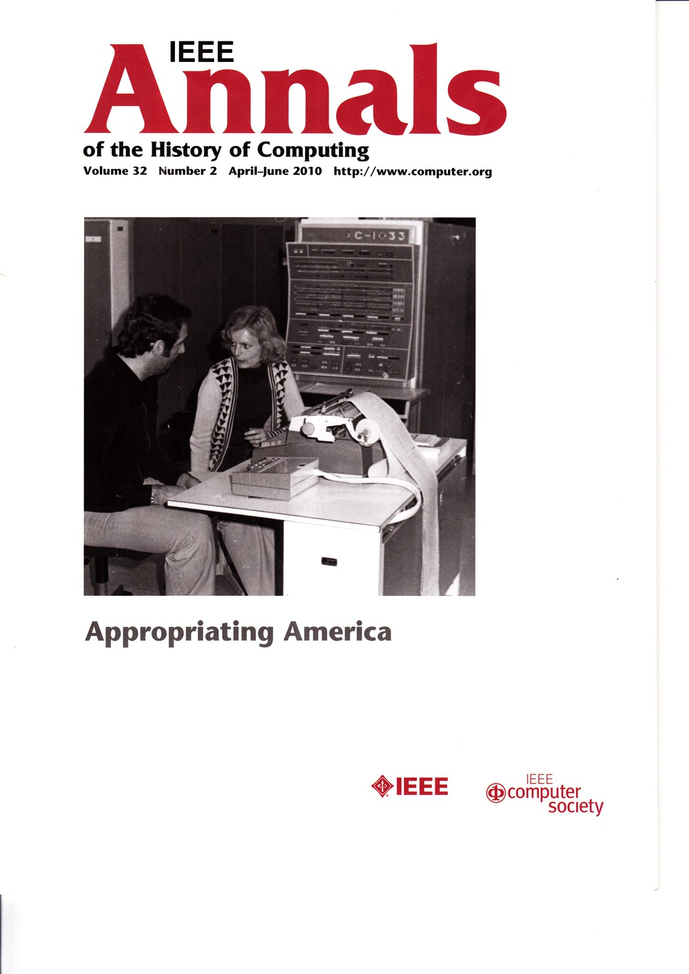 Scan of Document: IEEE Annals of the History of Computing - April-June 2010