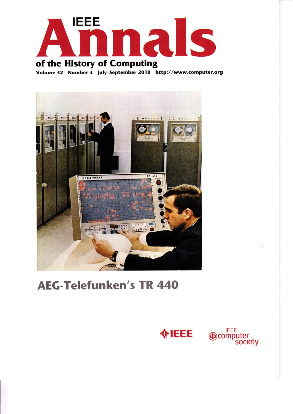 Scan of Document: IEEE Annals of the History of Computing - July-September 2010