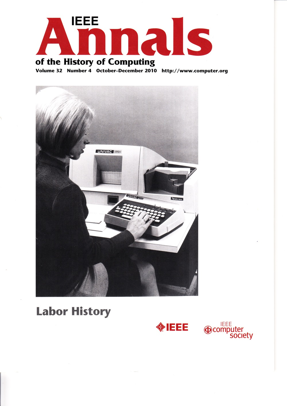 Scan of Document: IEEE Annals of the History of Computing - October-December 2010