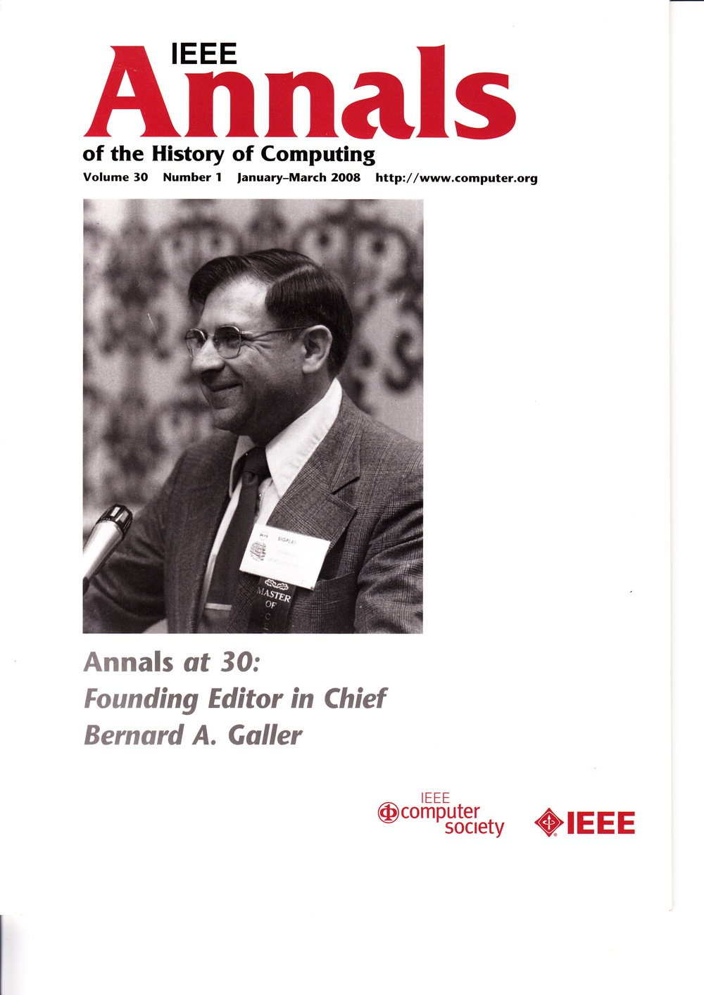Scan of Document: IEEE Annals of the History of Computing - January-March 2008