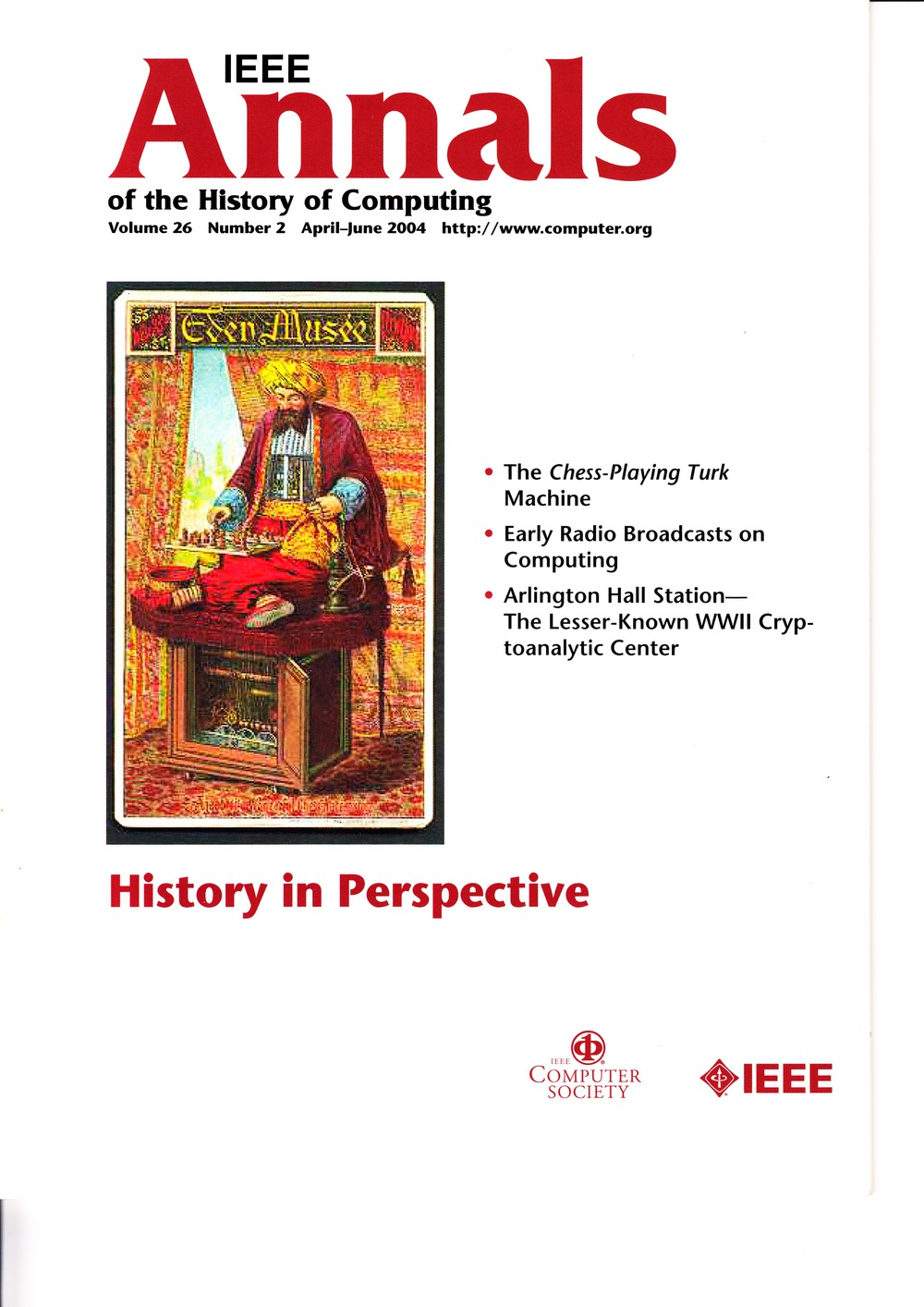 Scan of Document: IEEE Annals of the History of Computing - April-June 2004
