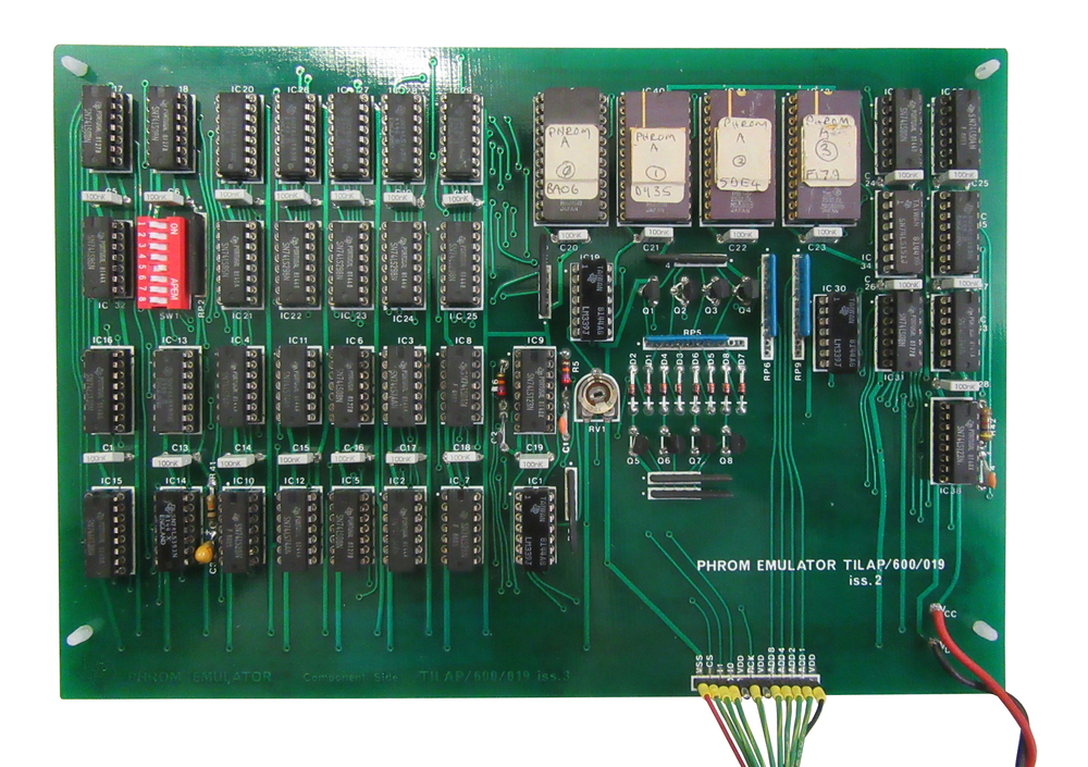 Scan of Document: Texas Instruments PHROM Emulator Board
