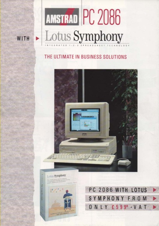 Scan of Document: Amstrad PC 2086 with Lotus Symphony