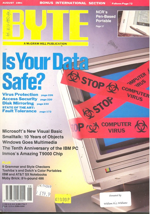 Scan of Document: Byte August 1991