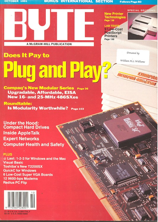 Scan of Document: Byte October 1991
