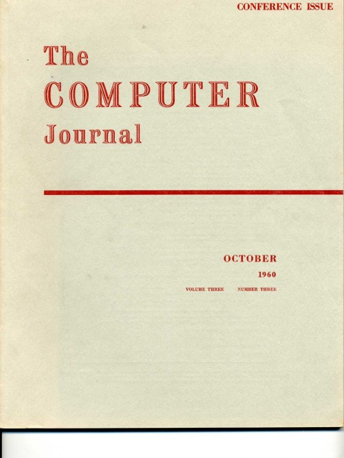 Scan of Document: The Computer Journal October 1960
