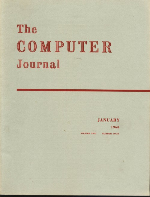 Scan of Document: The Computer Journal January 1960