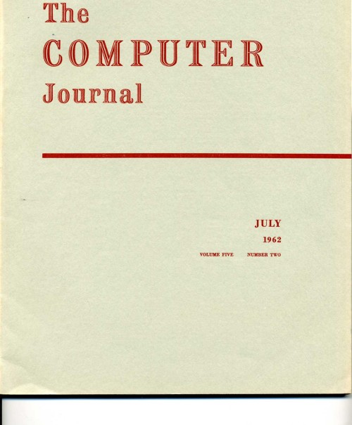 Scan of Document: The Computer Journal July 1962