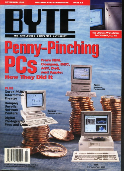 Scan of Document: Byte November 1992