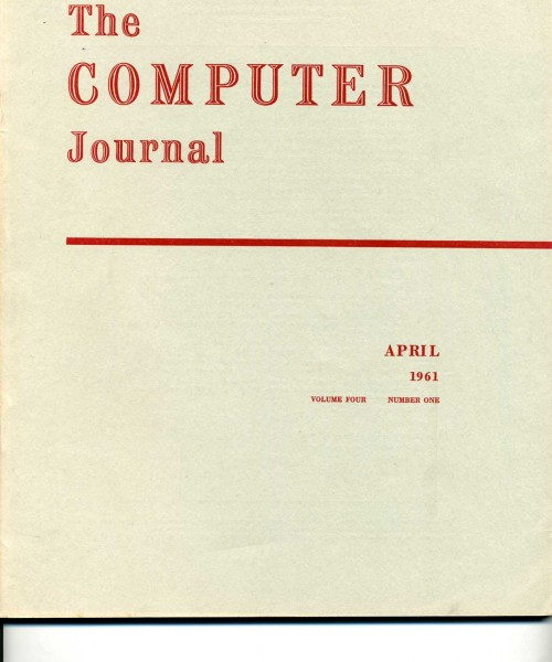 Scan of Document: The Computer Journal April 1961