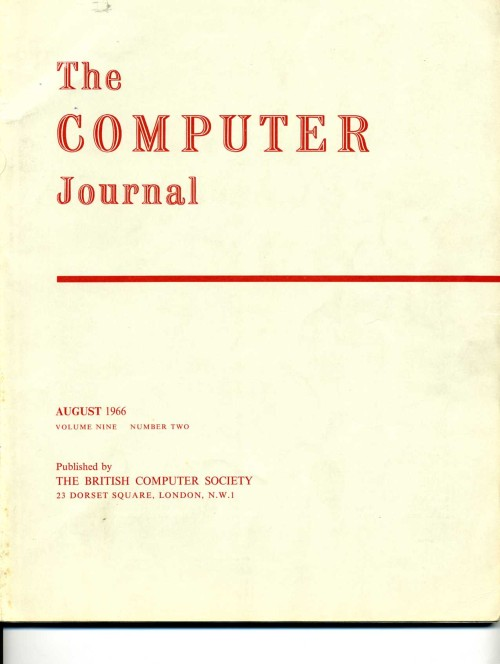 Scan of Document: The Computer Journal August 1966