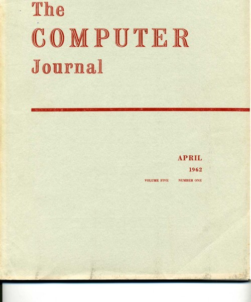 Scan of Document: The Computer Journal April 1962