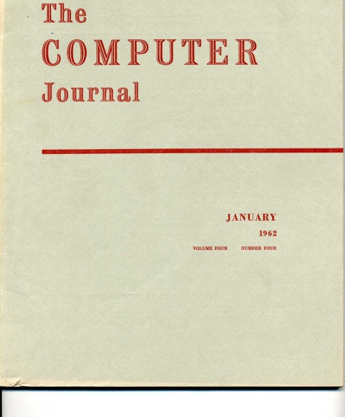Scan of Document: The Computer Journal January 1962