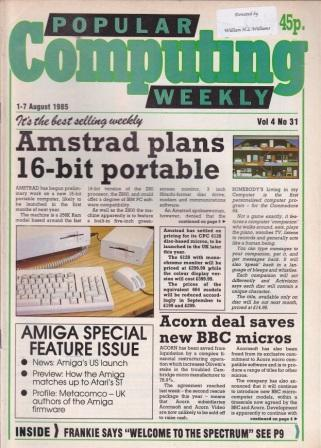 Article: Popular Computing Weekly Vol 4 No 31 - 1-7 August 1985