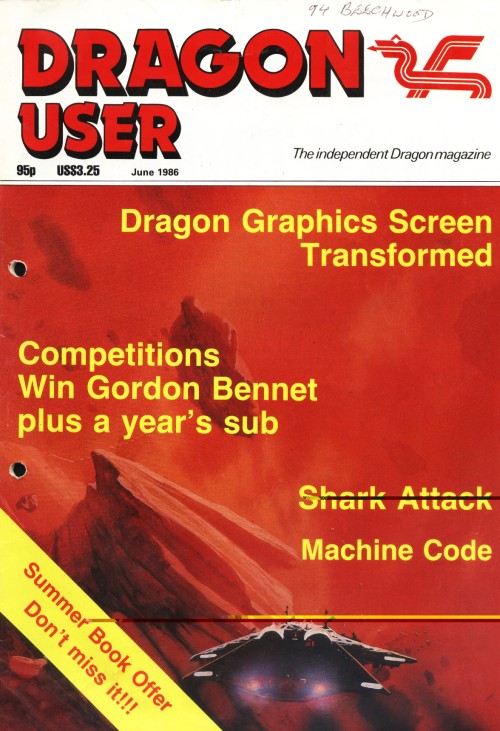 Scan of Document: Dragon User - June 1986