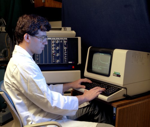 Photograph of Digital VT101 In Use - Vintage Photo