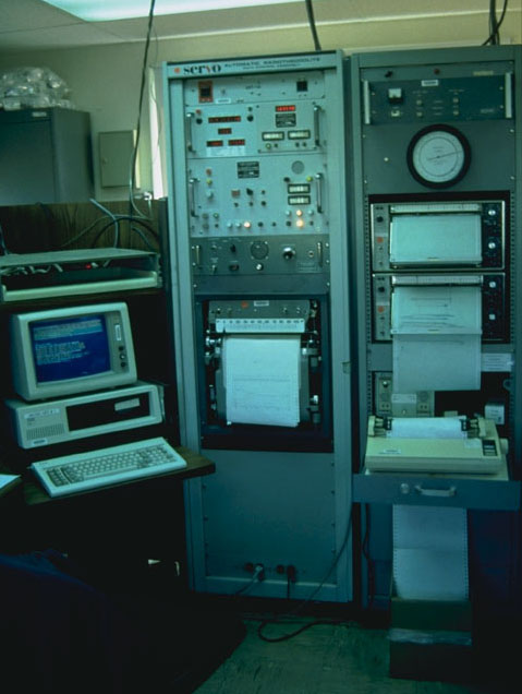 Photograph of Vintage IBM PC In Use at NOAA