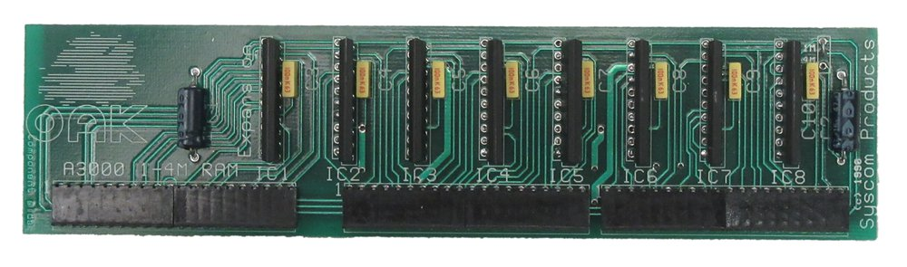 Scan of Document: Oak Solutions A3000 1-4MB RAM Upgrade