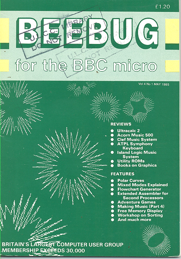 Article: Beebug Newsletter - Volume 4, Number 1 - May 1985