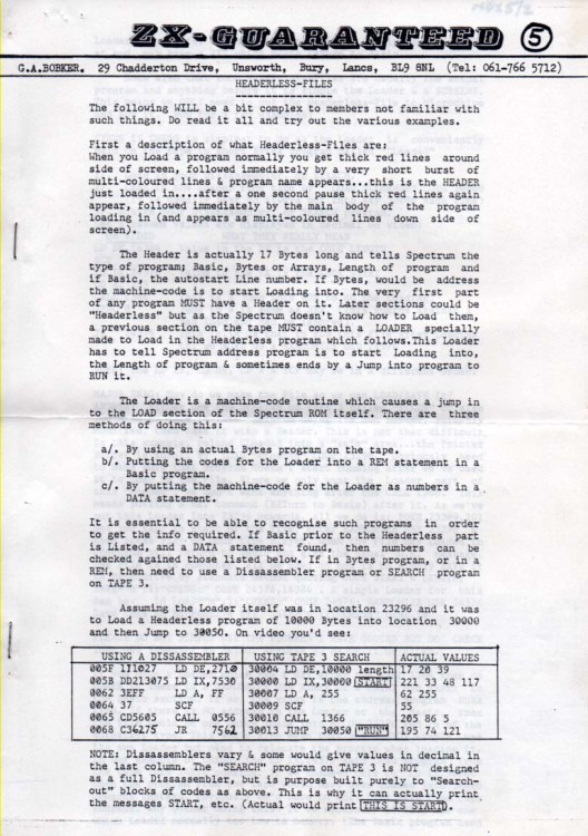 Scan of Document: Microdrive Exchange Issue 5