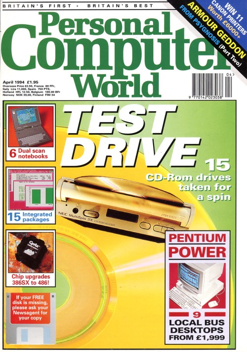 Scan of Document: Personal Computer World - April 1994