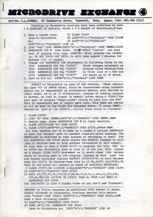 Scan of Document: Microdrive Exchange Issue 4