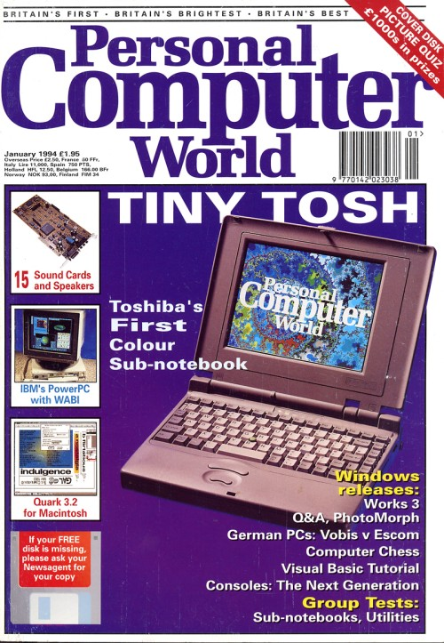 Scan of Document: Personal Computer World - January 1994