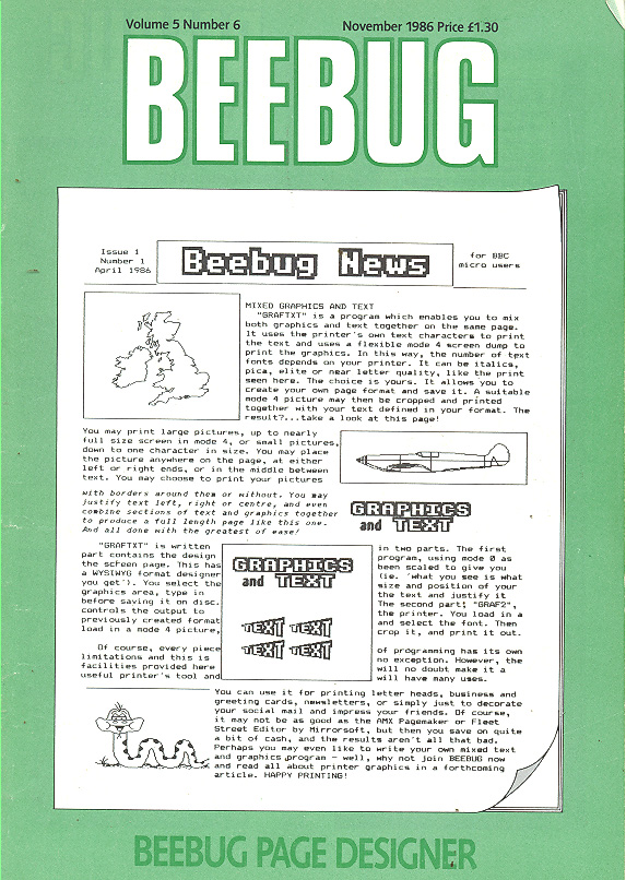 Article: Beebug Newsletter - Volume 5, Number 6 - November 1986
