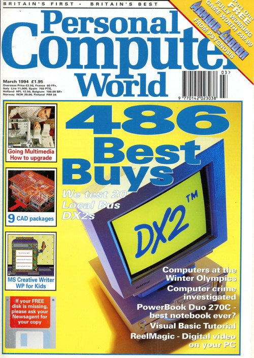 Scan of Document: Personal Computer World - March 1994