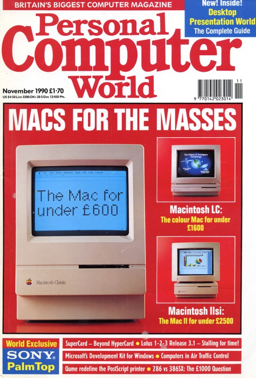 Scan of Document: Personal Computer World - November 1990