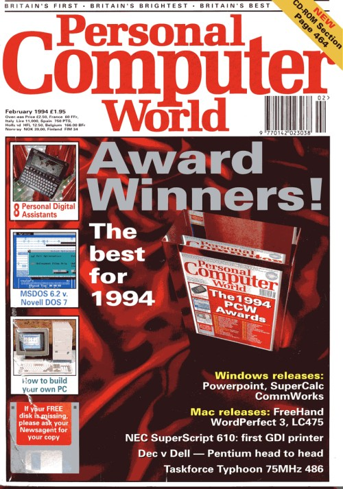Scan of Document: Personal Computer World - February 1994