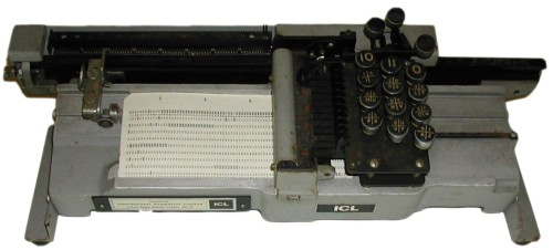 Scan of Document: ICL Hand Key Punch Card Machine