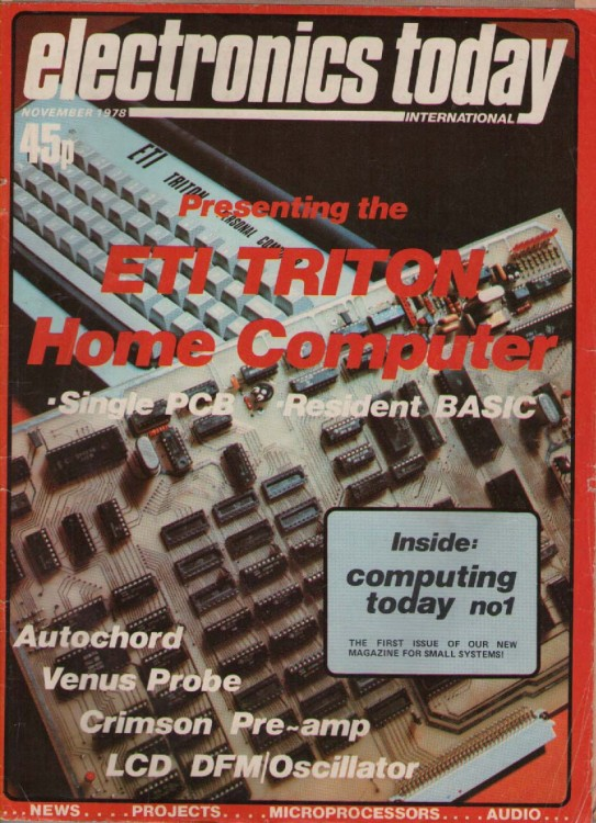 Scan of Document: Electronics Today International - November 1978