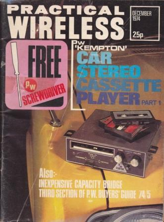 Scan of Document: Practical Wireless - December 1974