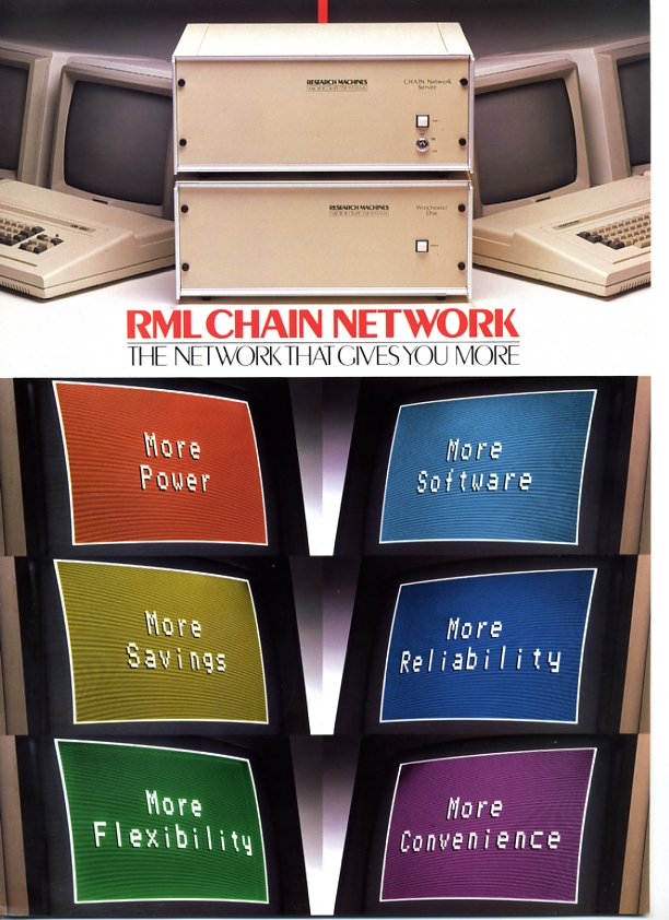 Scan of Document: Research Machines - RML Chain Network - The Network That Gives You More