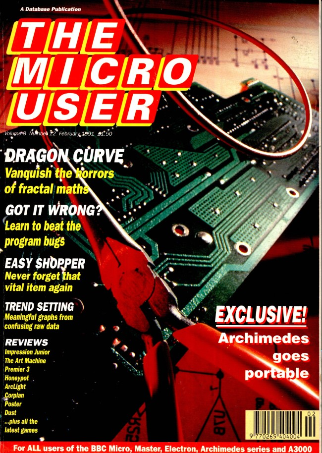 Scan of Document: The Micro User - February 1991 - Vol 8 No 12