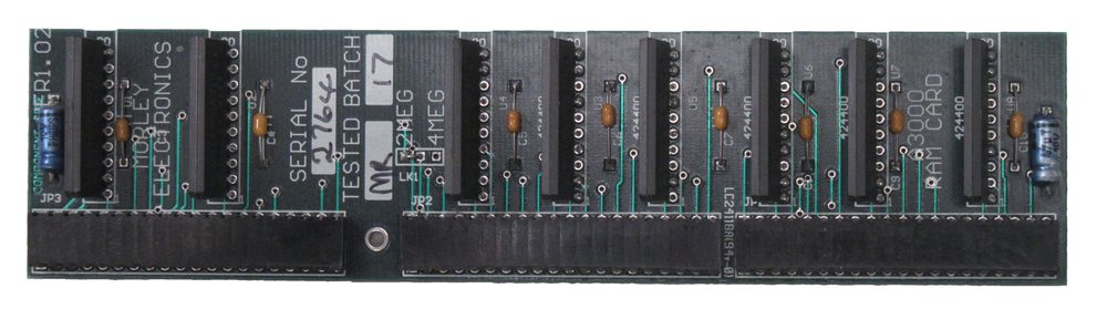 Scan of Document: Morley Electronics A3000 RAM Upgrade
