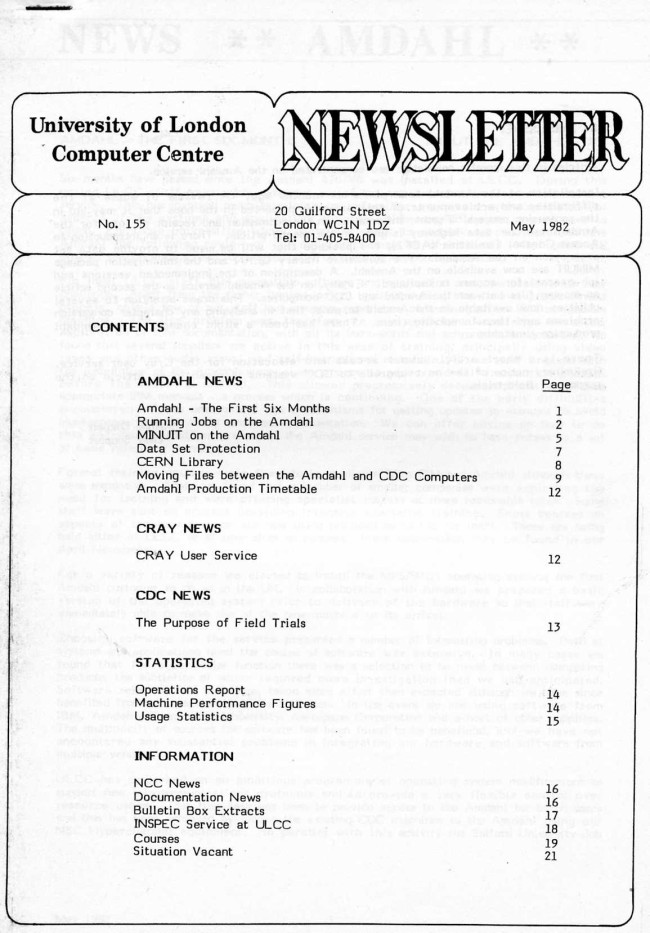 Scan of Document: ULCC News May 1982 Newsletter 155