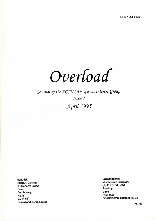 Scan of Document: Overload - Issue 7 - April 1995