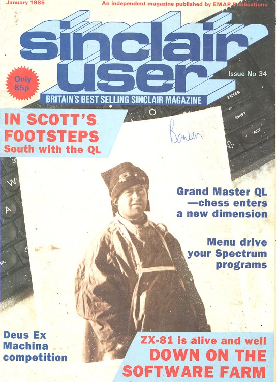 Scan of Document: Sinclair User January 1985