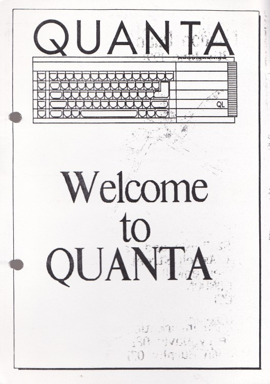 Scan of Document: Welcome to Quanta