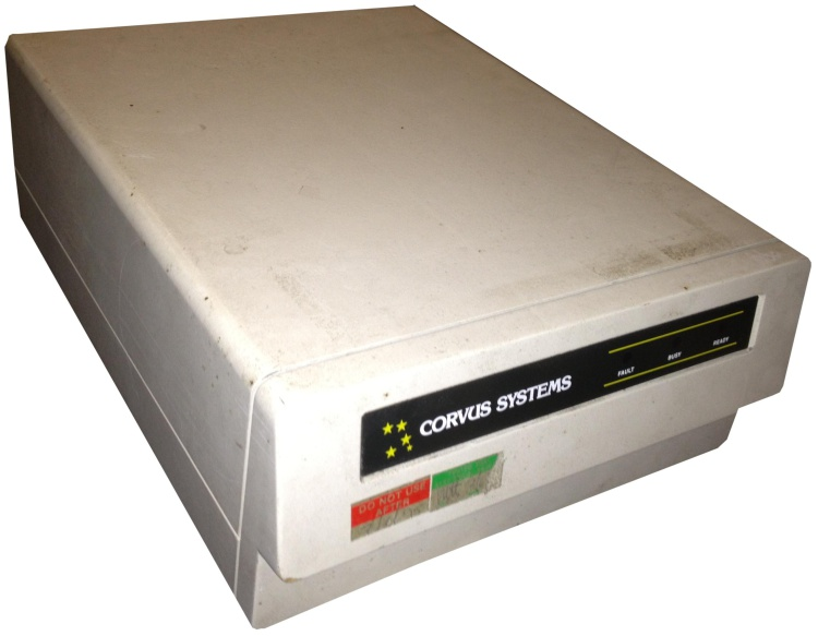 Scan of Document: Corvus Systems 6MB Hard Drive