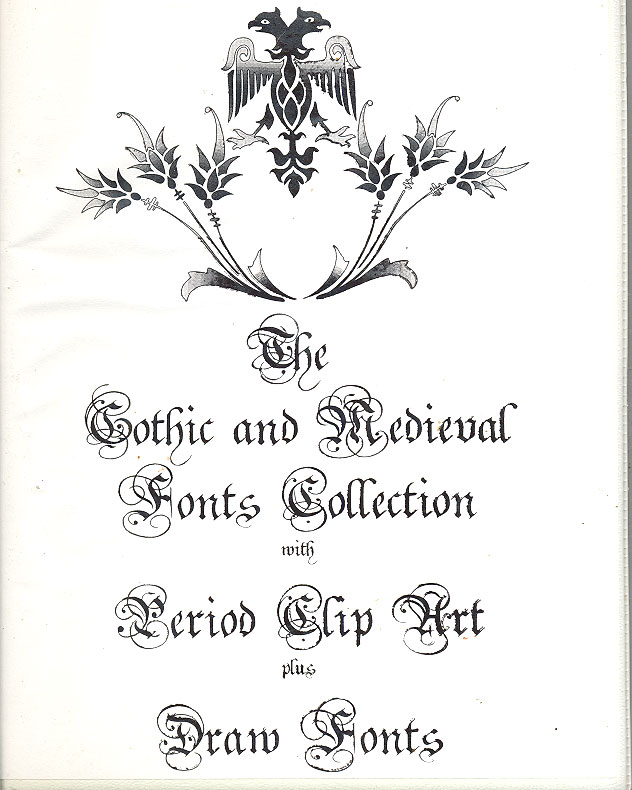 The Gothic And Medieval Fonts Collection Pack 1
