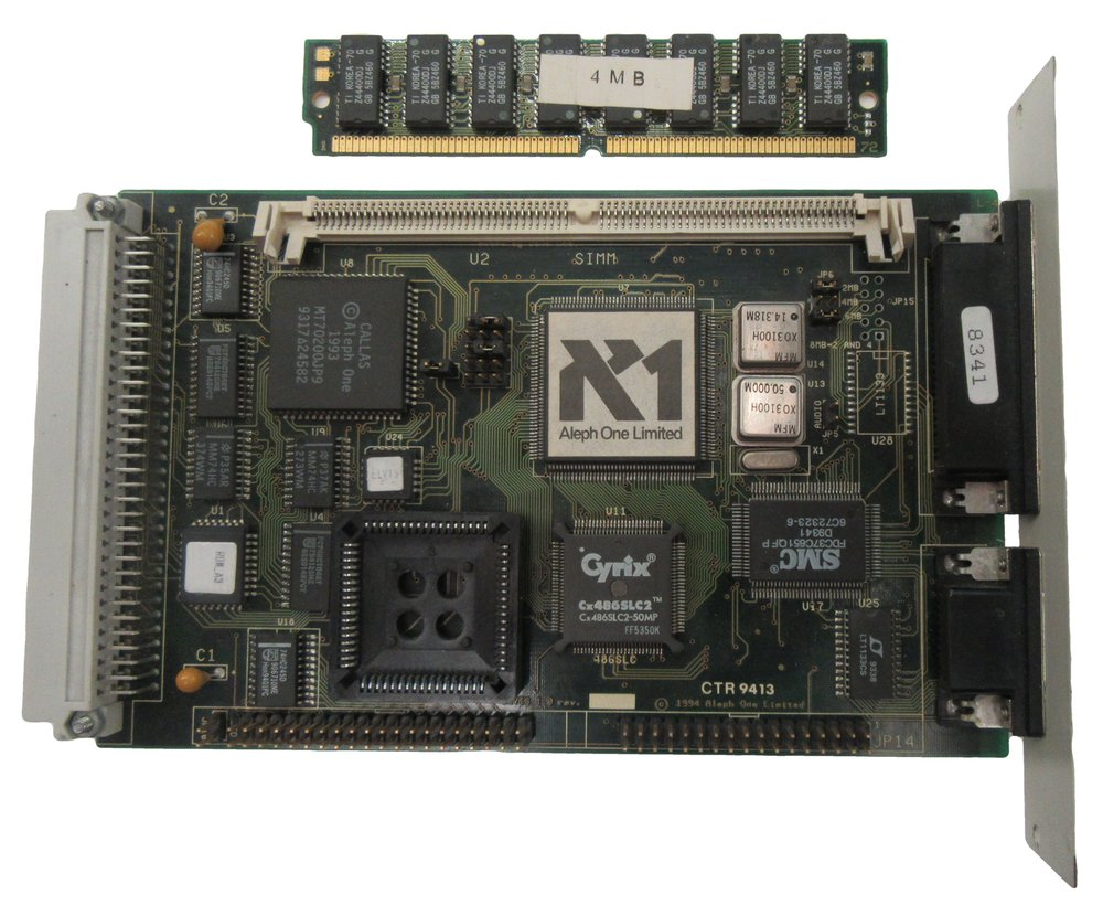 Scan of Document: Aleph One 486PC (Elvis) Expansion card