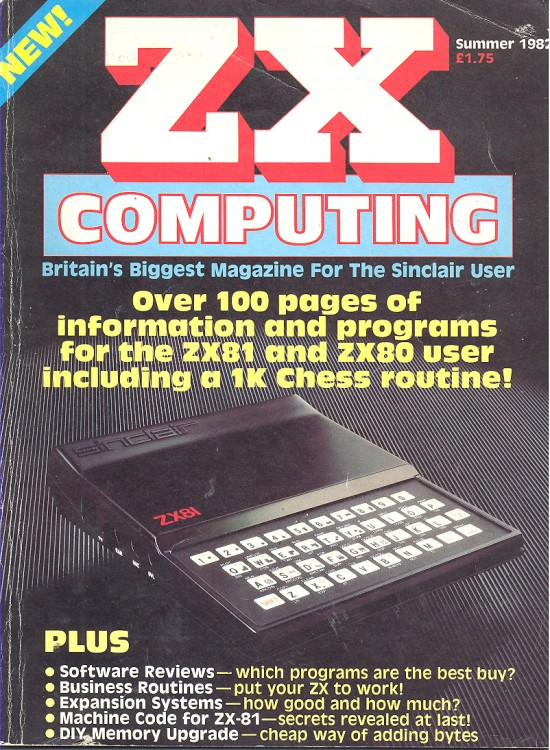 Article: ZX Computing Summer 1982