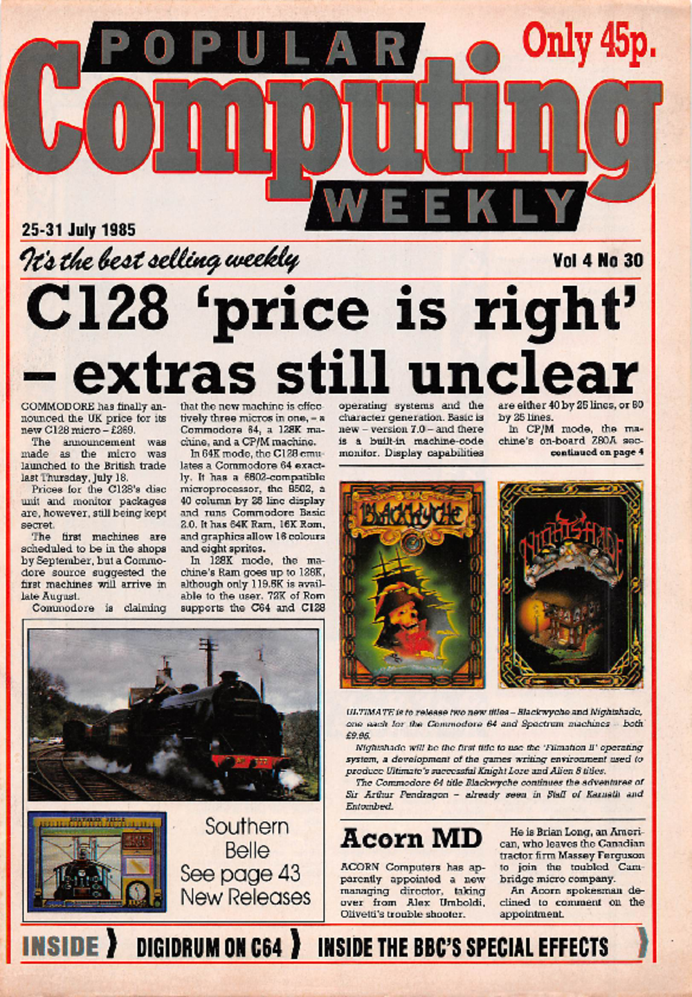 Article: Popular Computing Weekly Vol 4 No 30 - 25-31 July 1985