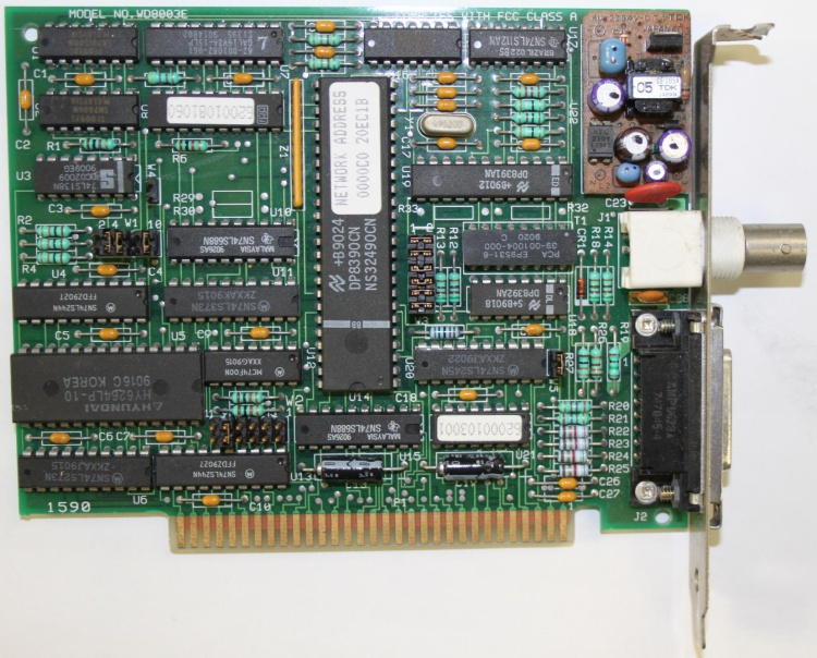 Scan of Document: Western Digital WD8003E Network Card