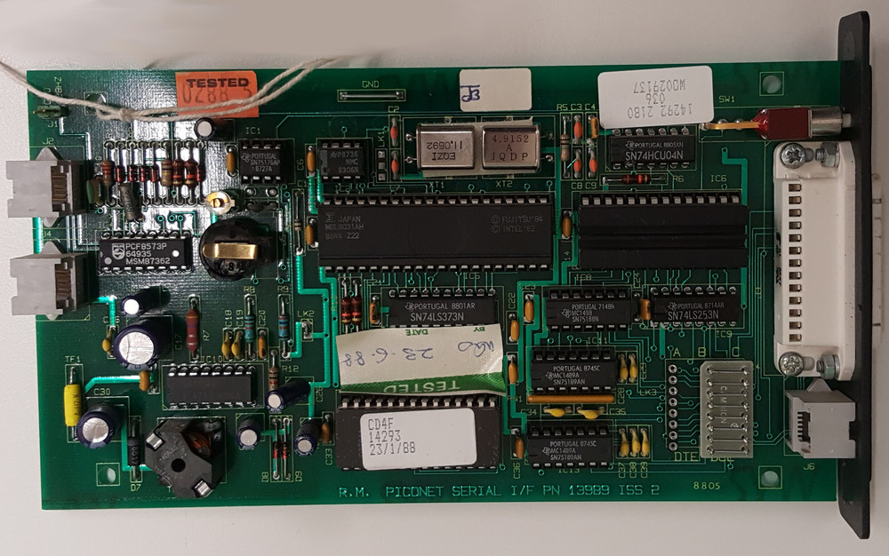 Scan of Document: Internal PICONET Serial Interface Card