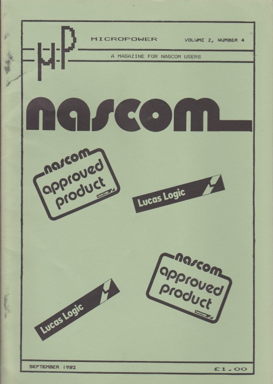 Scan of Document: Micropower - September 1982 - Volume 2 Number 4