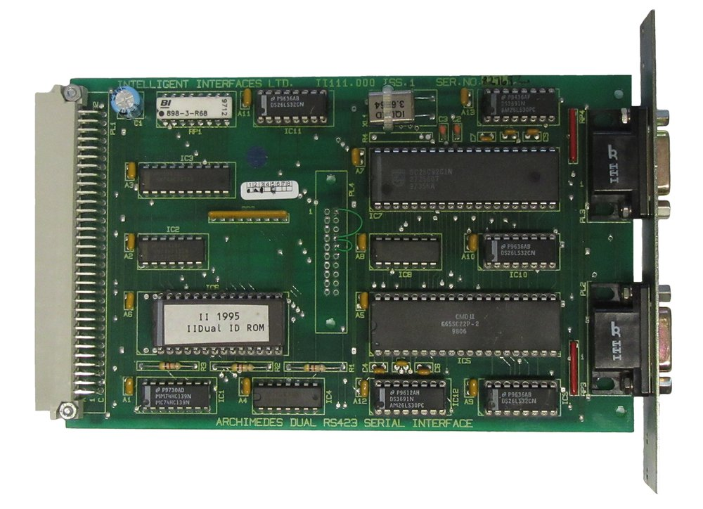 Scan of Document: Intelligent Interfaces Dual RS423 Serial Interface